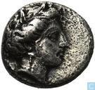 Ancient Greece-the Hemidrachme Lokri Opuntiia AR 380-338 BC