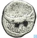 Roman Republic-AR Denarius Mark Antony. Patrae 32-31 BC
