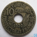 Tunisia 10 centimes 1920 (year 1338)