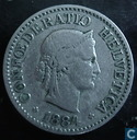 Switzerland 10 rappen 1884