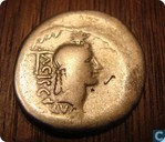 Romeinse Rijk, AR Denarius, 45 BC, L. Valerius Acisculus, Rome