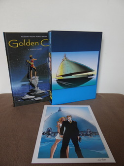 Golden City 1 t/m 6 - Box + 6x hc + prent -  (2008)