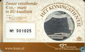 "Netherlands 10 euro 2013 (BU - coincard) ""the King Tenner"""