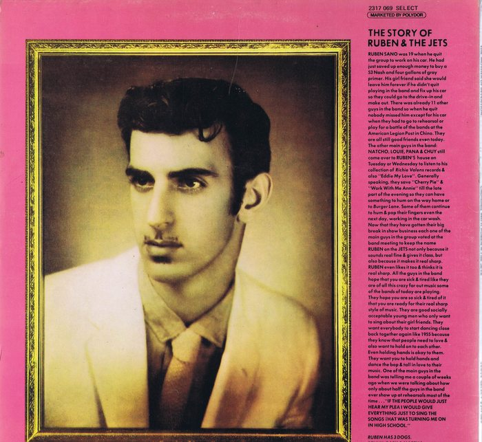 Frank Zappa Lp Cruisin With Ruben And The Jets
