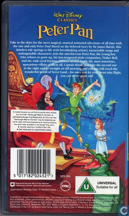 Peter Pan 2 Vhs Images & Pictures - Becuo