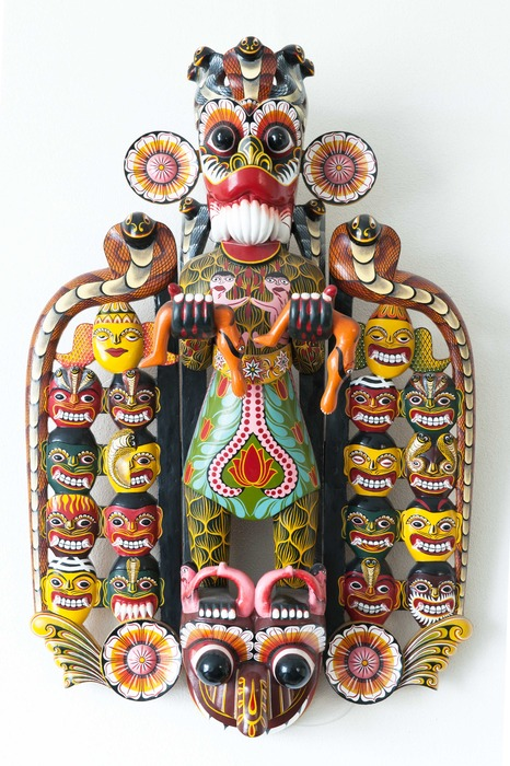 AZIATICA:  SANNI YAKUMA MASK FROM SRI LANKA