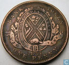 Oudste item - Canada (colonial) penny Bank of lower Canada 1837