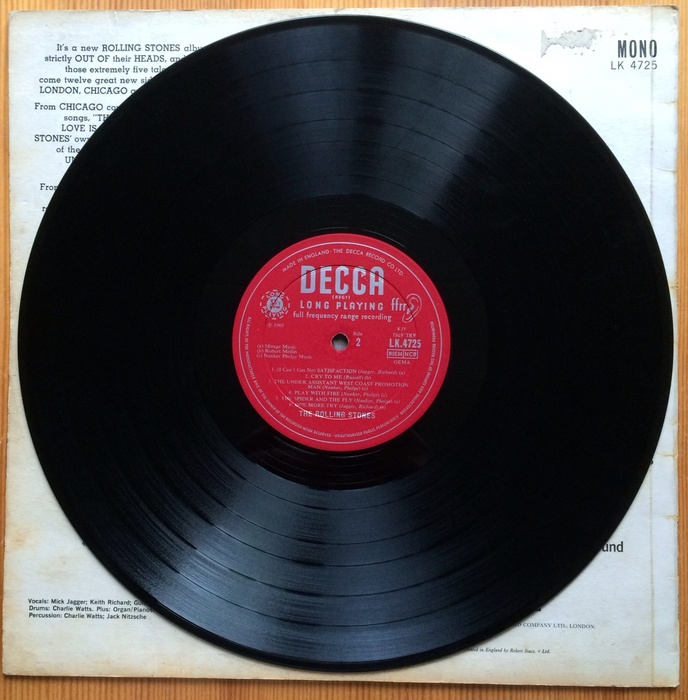 the rolling stones out of our heads uk pressing on decca label catawiki