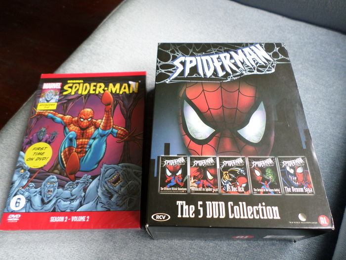 5x DVD Collectie + 5x Eps. Spiderman (Marvel