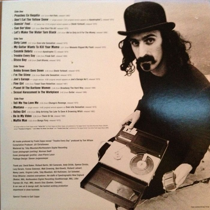 Frank Zappa 2 Lp Set Quot The Best Of Frank Zappa Strictly