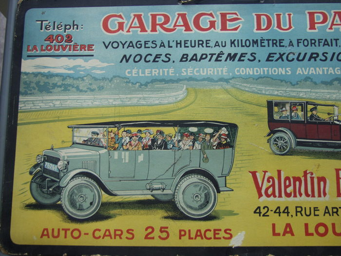 Reclame garage du parc ca 1925 catawiki for Garage du parc