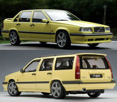 Autoart - 1/18 scale - Lot with Volvo 850 T-5R Estate and Sedan, 1995