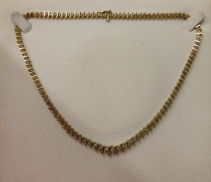 gold and necklace with matching bracelet