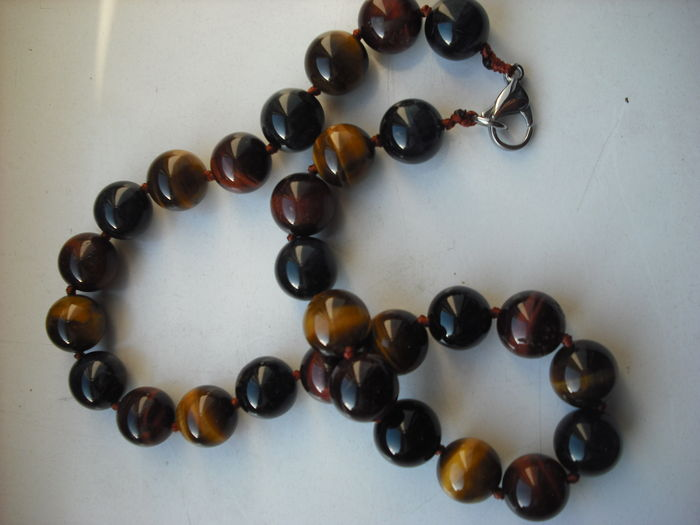 handcrafted tiger eye bead necklace catawiki