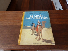 Tintin, deel 9 - Le Crabe aux Pinces d'Or - hc - heruitgave (1944)