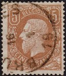 Check out our Belgium 1878 - King Leopold II - OBP 37A, with certificate