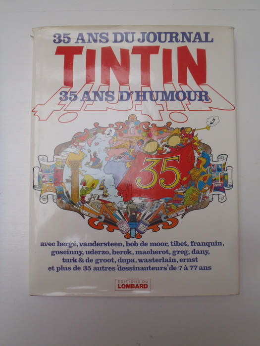 tintin 35 ans du journal tintin 35 ans d 39 humour linnen luxe hc 1e druk 1981 catawiki. Black Bedroom Furniture Sets. Home Design Ideas