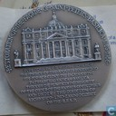 Tokens / Medals - Commemorative tokens - Vatican Commemoration of Restorating the Facade of St. Peter's Basilica, 1987
