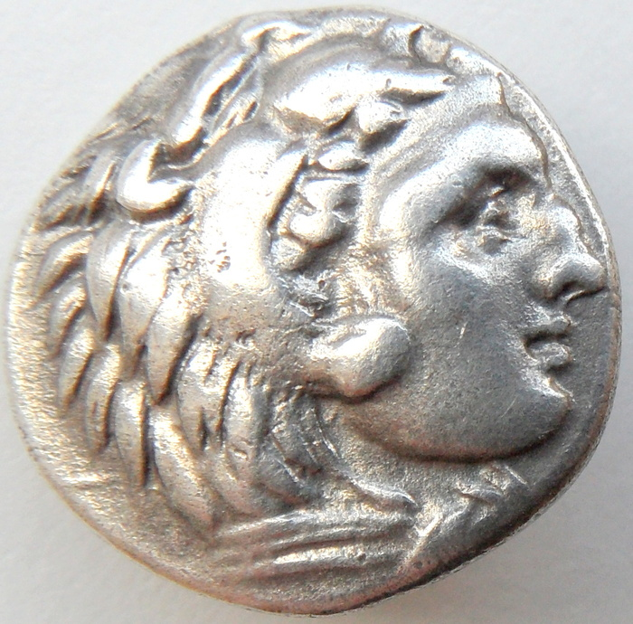 ancient greece silver drachm of alexander the great 336. Black Bedroom Furniture Sets. Home Design Ideas