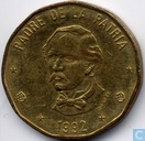 Coins - Dominican Republic - Dominican Republic 1 peso 1992 (name under bust)