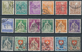 Check out our Switzerland 1935 - Official stamps - Michel 1/18