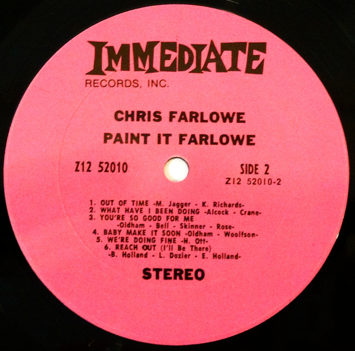 Chris Farlowe Paint It Black I Just Need Your Loving