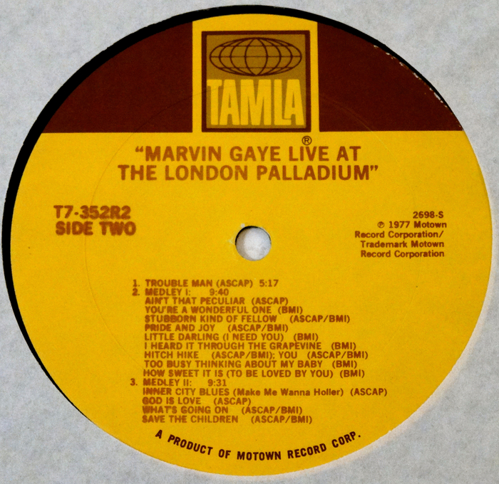 MARVIN GAYE LIVE AT THE LONDON PALLADIUM
