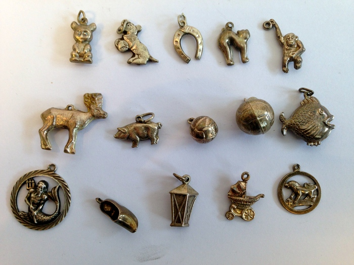 15 different silver charms catawiki