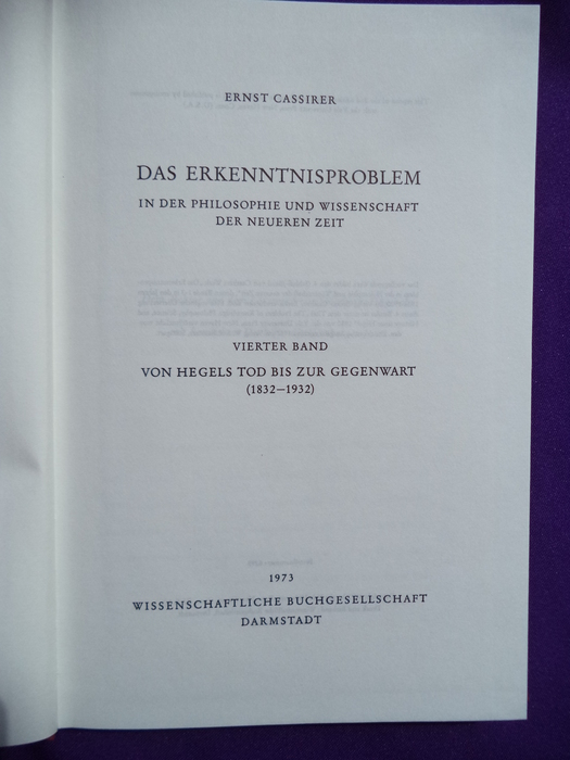 Philosophy and History. Essays Presented to Ernst Cassirer