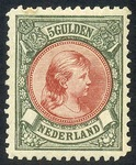 Check out our The Netherlands 1896 - Princess Wilhelmina 'Hair hanging down' - NVPH 48, with certificate