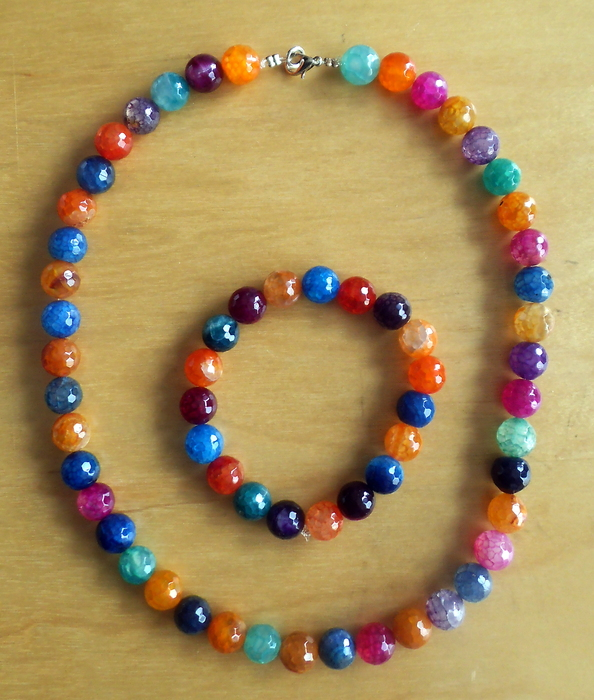 necklace and matching bracelet in colourful catawiki
