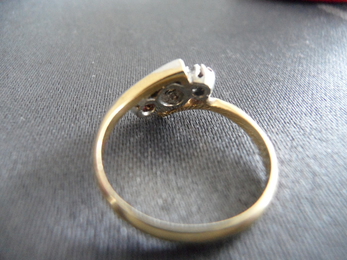 18k gold platinum ring catawiki