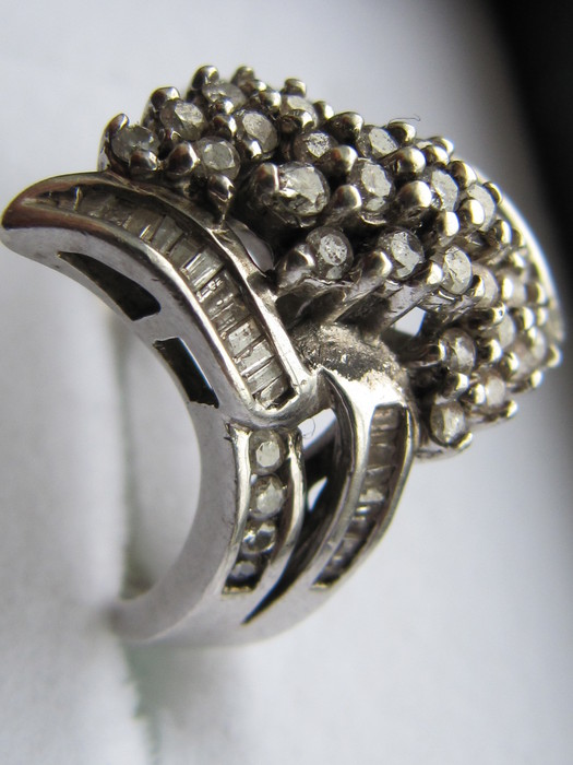 silver cluster ring catawiki