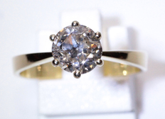 Solitaire ring with 1.40 brilliant cut diamond