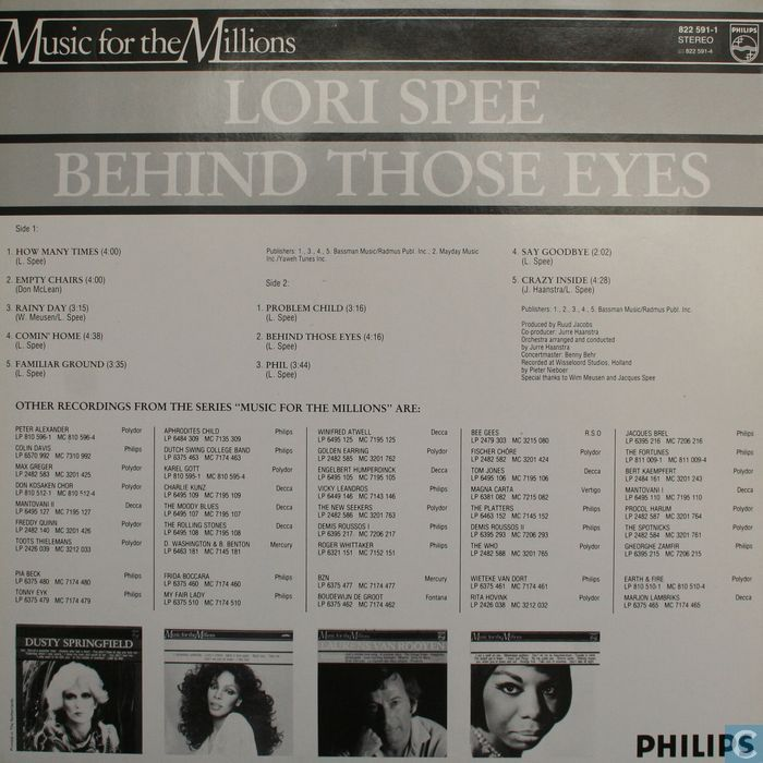 Platen en CD's - Spee, Lori - Behind those eyes