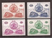 Check out our Belgium 1960 - Railway stamps - Imperforate - OPB TR369/72
