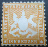Check out our Württemberg 1863/1864 - Michel 29
