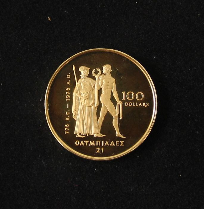 100 dollar gold coin montreal olympics