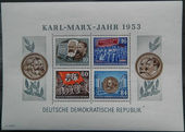 Check out our GDR 1953 - Karl Marx - Michel souvenir sheets 8A / B and 9A / B