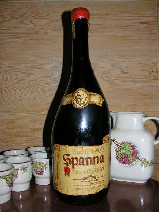 3 litre bottle spanna del piemonte with wine crockery 5 miniature wine bottles catawiki. Black Bedroom Furniture Sets. Home Design Ideas
