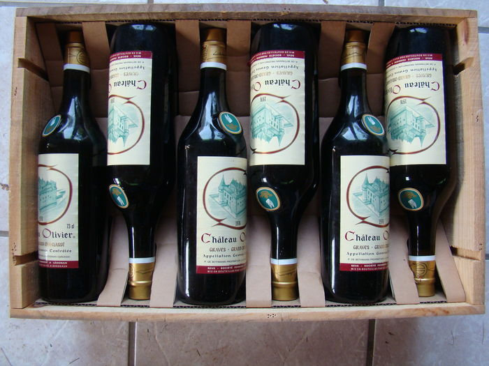 1976 bordeaux chateau olivier 12 bottles catawiki for Chateau olivier