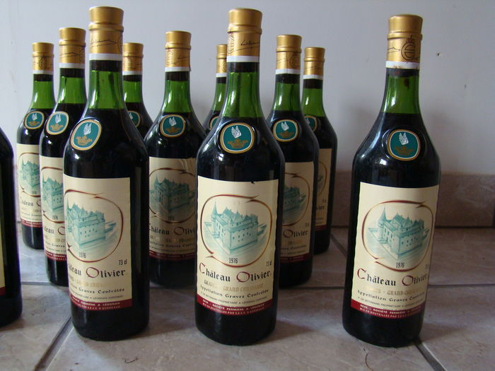 1976 chateau olivier bordeaux 12 bottles catawiki for Chateau olivier