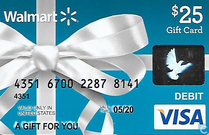 $25 gift card blue