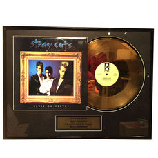 Stray Cats - 'Elvis on Velvet' Gold Record 24 Carat Gold Plated