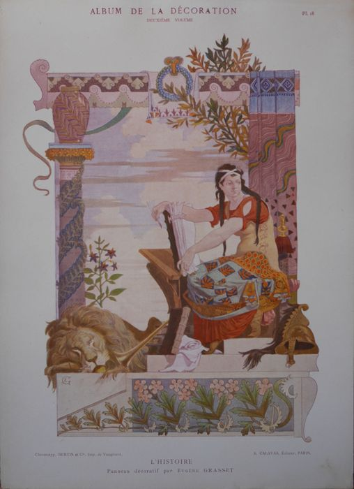 Eug ne grasset original litho from 39 album de la for Album de la decoration