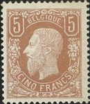 Check out our België 1869 - Leopold II 5 Frank Light brown - OBP 37A