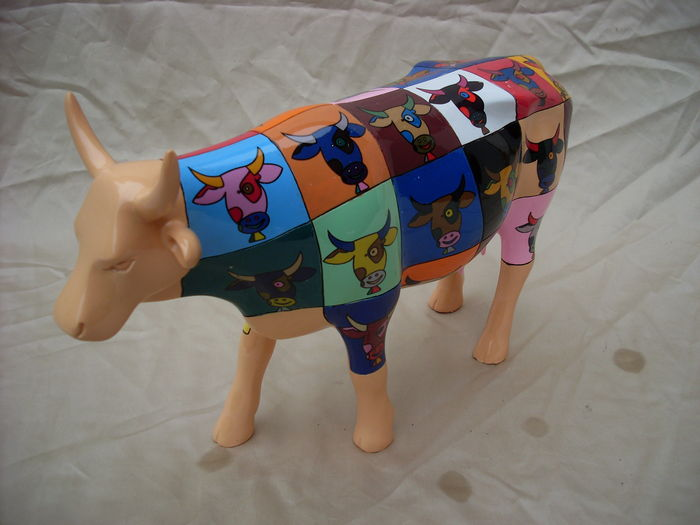 Joe fiorello cowparade pop art decoratie koe 28 cm for Decoratie koe