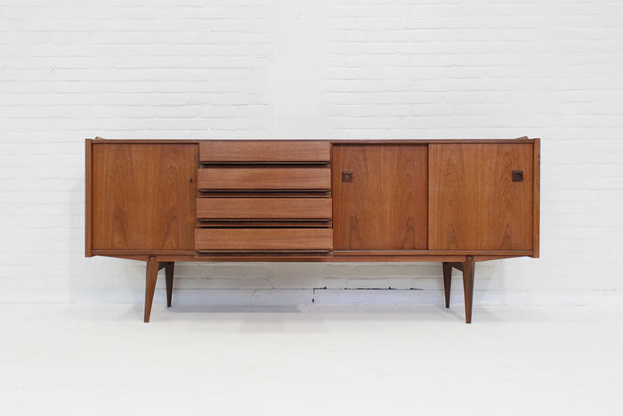 Beautiful Wood Sideboard ~ Beautiful sideboard made of teak wood with wenge details