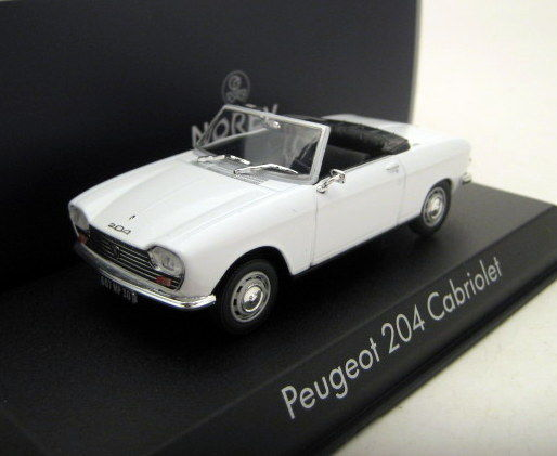 norev schaal 1 43 peugeot 204 cabriolet 1967 white. Black Bedroom Furniture Sets. Home Design Ideas