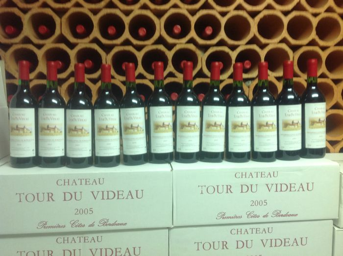 2005 bordeaux chateau tour du videau premieres cotes de bordeaux 12 bottles catawiki. Black Bedroom Furniture Sets. Home Design Ideas